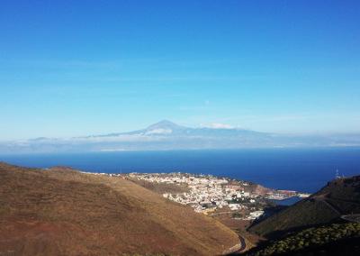 San Sebastián y el Teide